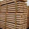 Cilindrisch gefreesde houten palen